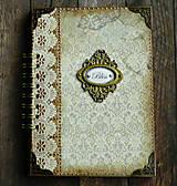 Papiernictvo - Vintage kniha hostí/album/svadobná kniha hostí  - 10615650_