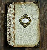 Papiernictvo - Vintage kniha hostí/album/svadobná kniha hostí  - 10615651_