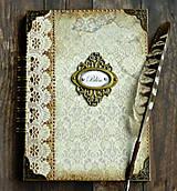 Papiernictvo - Vintage kniha hostí/album/svadobná kniha hostí  - 10615652_
