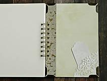 Papiernictvo - Vintage kniha hostí/album/svadobná kniha hostí  - 10615653_
