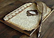 Papiernictvo - Vintage kniha hostí/album/svadobná kniha hostí  - 10615656_