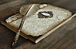 - Vintage kniha hostí/album/svadobná kniha hostí  - 10615657_