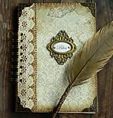Papiernictvo - Vintage kniha hostí/album/svadobná kniha hostí  - 10615660_