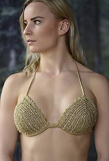 Bielizeň/Plavky - Vúpredaj -Háčkované plavky - Goldie - 10614625_