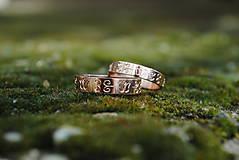 Prstene - Obrúčky s tulipánmi - 10616560_