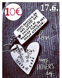 Kľúčenky - Tati , ďakujem ,že ma učíš byť chlapom ... UROB RADOSŤ TATINOVI :) - 10616999_