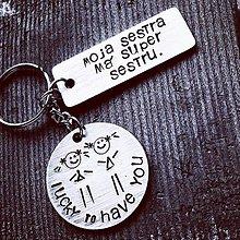 Kľúčenky - Moja SESTRA má SUPER sestru - 10617005_