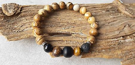 Šperky - Náramok mix minerálov - 10616272_