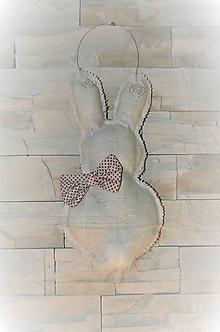 Dekorácie - Zajačik na dvere - 10617388_