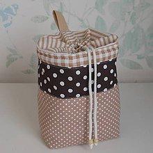 Úžitkový textil - Vrecko*Hnedé* - 10617415_