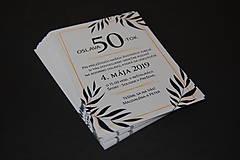 Papiernictvo - Pozvánka na oslavu jubilea pre muža (Variant 1) - 10617451_