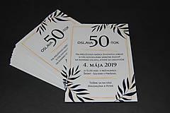 Papiernictvo - Pozvánka na oslavu jubilea pre muža (Variant 1) - 10617452_