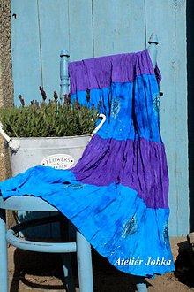 Sukne - Hedvábná sukně malovaná - 10618620_