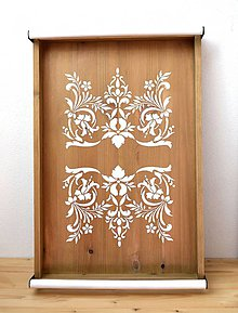 Nádoby - Veľký drevený podnos (60 cm x 41 cm) - 10617136_