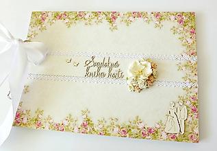 Papiernictvo - svadobná kniha hostí - 10616702_
