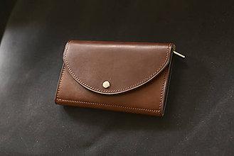 Peňaženky - Kožená peňaženka Bižu - 10618268_