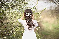 Ozdoby do vlasov - Jemný biely set vhodný na svadby a na  prvé sväté prijímanie - 10616021_