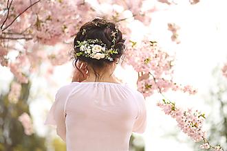 Ozdoby do vlasov - Svadobný polvenček - 10616036_