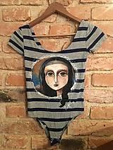 Tričká - Maľované body alá Mona Lisa - 10616149_