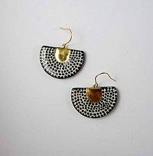 Náušnice - Tana šperky - keramika/zlato - 10616164_