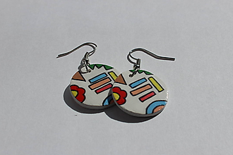 Náušnice - Mix farieb - 10617106_