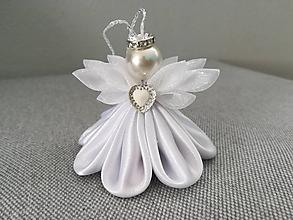 Dekorácie - Anjeličkovia 2 (Anjelik Biely) - 10616938_