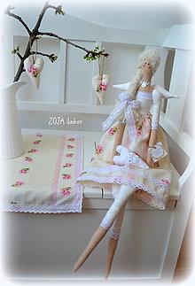 Bábiky - Anjelka ružičky na vanilkovej - 10618679_