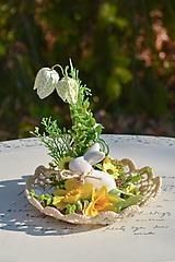 Dekorácie - Jarná dekorácia so zajačikom - 10618540_
