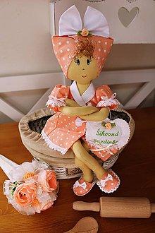 Dekorácie - Textilná bábika-gazdinka.. - 10617192_