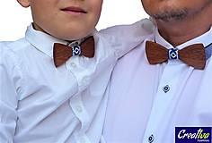 Doplnky - Set Drevený Motýlik Otec a Syn - 10617936_