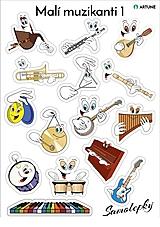 Hudobné nástroje - Samolepky Malí muzikanti 1 - 10618441_