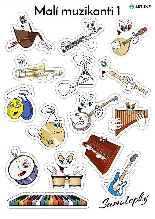Samolepky Malí muzikanti 1