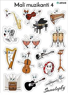 Hudobné nástroje - Samolepky Malí muzikanti 4 - 10618450_