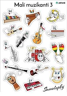 Hudobné nástroje - Samolepky Malí muzikanti 3 - 10618457_