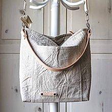 Veľké tašky - Veľká ľanová taška *natur* - 10616227_