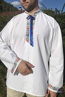 Oblečenie - Folklórna košeľa pánska Alojz - 10617518_