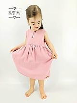 Detské oblečenie - Ružové mušelínové bio šatočky - 10618309_