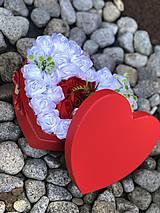Dekorácie - Box zo saténových ruží - 10617932_