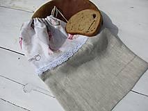 Úžitkový textil - muffiny  vrecko s ľanu - 10616814_