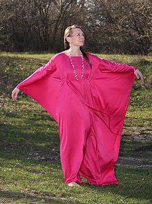 Šaty - Kaftan, dlhé šaty - Jahodový Bozk - 10617736_
