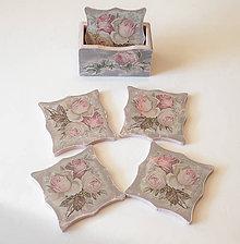 Pomôcky - Drevené podložky v štýle vintage so stojanom - 10618494_