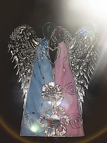 Socha - Dvojica anjelov_ružovo modrá - 10616828_