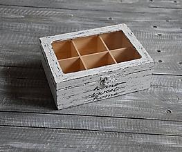 """Krabičky - krabička 6-priečinková """"Home sweet home"""" - 10616177_"""