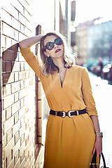 Šaty - Žlté úpletové šaty - 10617859_