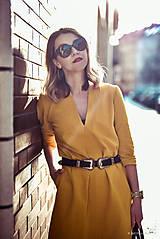 Šaty - Žlté úpletové šaty - 10617864_