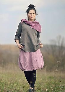 Sukne - Lněná Mauve - 10616496_