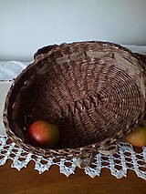 Košíky - Oválna ošatka zdobená jutovou stuhou - 10617263_