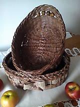 Košíky - Oválna ošatka zdobená jutovou stuhou - 10617264_