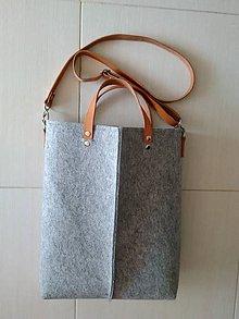 Veľké tašky - Kabelka z filcu 44 - 10617095_
