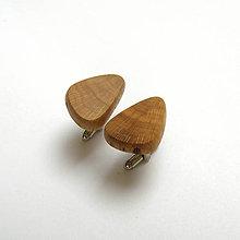 Šperky - Drevené manžetové gombíky - hrabové - 10616207_
